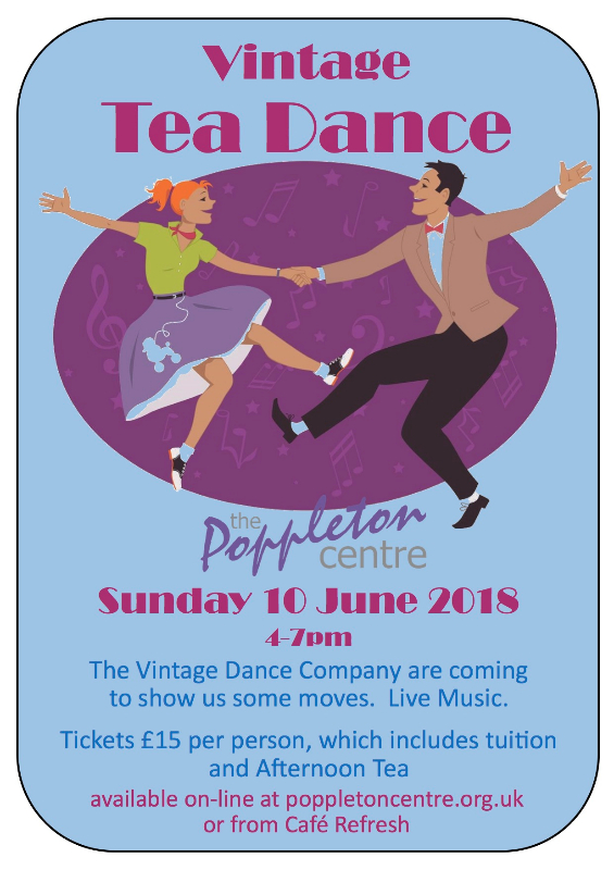 Vintage Tea Dance 10th June 2018