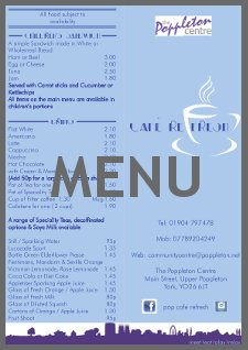 Cafe Refresh Menu